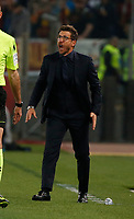 Eusebio Di Francesco  during the  italian serie a soccer match, AS Roma -  SSC Napoli       at  the Stadio Olimpico in Rome  Italy , 14 ottobre 2017