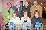 CHURCH SESQUICENTENNIAL: Launching 150 years of The Church Of The Purification, Churchill new book members of the editorial committee at Fenit Sailing Club on Monday seated l-r: Ann Daughton, Ella O'Carroll and Majella Griffin. Back l-r: James Crowley Chairperson Parish Pastoral Council), Billy Ryle (Chairperson editorial committee), Fr Denis O'Mahony and Seamus McConville.