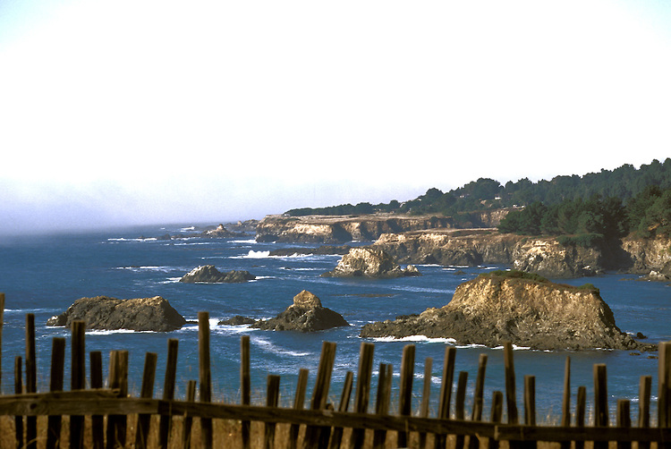 Looking north along the Mendocino coast headlands, Mendocino California