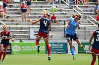 Boyds, MD - Sunday July 31, 2016: Megan Oyster, Kelly Conheeney<br />  during a regular season National Women's Soccer League (NWSL) match between the Washington Spirit and Sky Blue FC at Maureen Hendricks Field, Maryland SoccerPlex.
