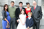 Holly Murphy with her family at the Scoil Aonghusa Communion 2011...(Photo credit should read Jenny Matthews www.newsfile.ie)....This Picture has been sent you under the conditions enclosed by:.Newsfile Ltd..The Studio,.Millmount Abbey,.Drogheda,.Co Meath..Ireland..Tel: +353(0)41-9871240.Fax: +353(0)41-9871260.GSM: +353(0)86-2500958.email: pictures@newsfile.ie.www.newsfile.ie.