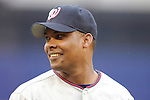 3 April 2006: Jose Guillen, outfielder for the Washington Nationals, smiles during pre-game introductions prior to the Opening Day game against the New York Mets at Shea Stadium, in Flushing, New York. The Mets defeated the Nationals 3-2 to lead off the 2006 MLB season...Mandatory Photo Credit: Ed Wolfstein Photo..