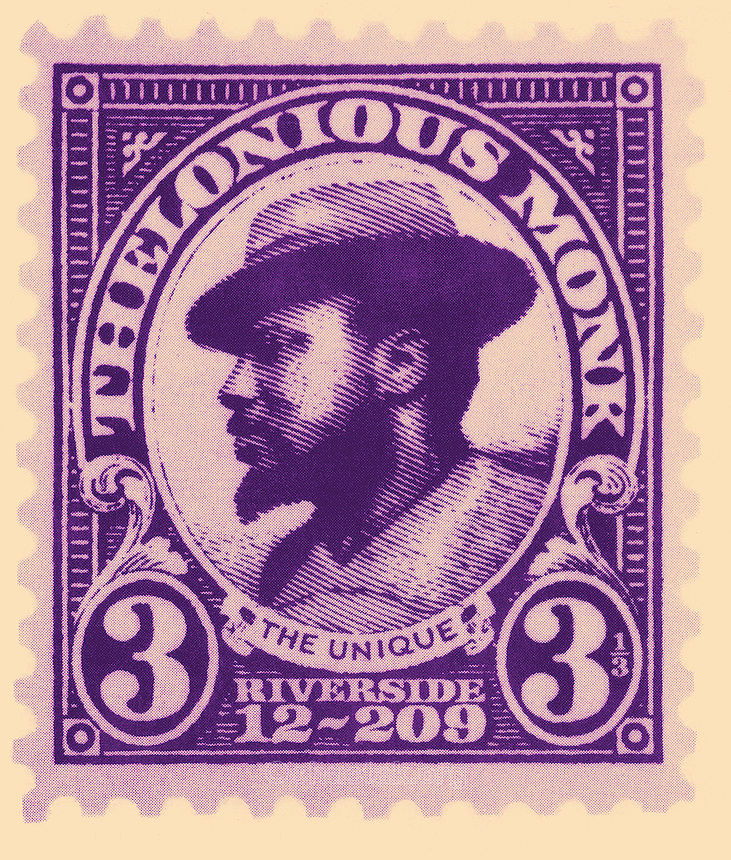 Cover design of 'The Unique Thelonious Monk' LP, 1956 (Fantasy Records)