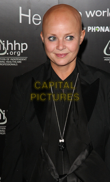 GAIL PORTER.'Hear The World' Photographic Exhibition at the Saatchi Gallery, London, England..July 21st 2009.half length black top gold necklace jacket.CAP/ROS.©Steve Ross/Capital Pictures.