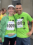 Denise Winters and Luca Pengue who ran the Integral Clogherhead 10K. Photo:Colin Bell/pressphotos.ie