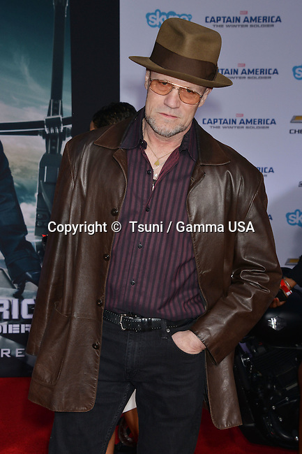 Michael Rooker arriving at the Captain America Premiere at the El Capitan Theatre in Los Angeles.