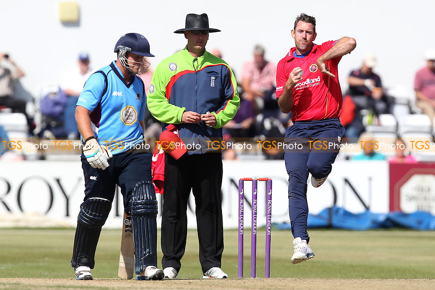 David Masters in bowling action for Essex - Northamptonshire Steelbacks vs Essex Eagles - Royal London One-Day Cup at the County Ground, Northampton - 21/08/14 - MANDATORY CREDIT: Gavin Ellis/TGSPHOTO - Self billing applies where appropriate - contact@tgsphoto.co.uk - NO UNPAID USE