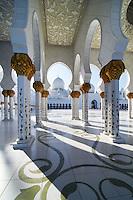 Abu Dhabi Mosque courtyard and columns
