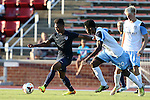 24 May 2014: USA Under-20's Kainoa Bailey (left) and Wilmington's Jason Watson (20). The Under-20 United States Men's National Team played a scrimmage against the Wilmington Hammerheads at Dail Soccer Field in Raleigh, North Carolina. Wilmington won the game 4-2.