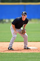 New York Yankees Ryan Lindemuth (21) during practice before a minor league spring training game against the Toronto Blue Jays on March 24, 2015 at the Englebert Complex in Dunedin, Florida.  (Mike Janes/Four Seam Images)