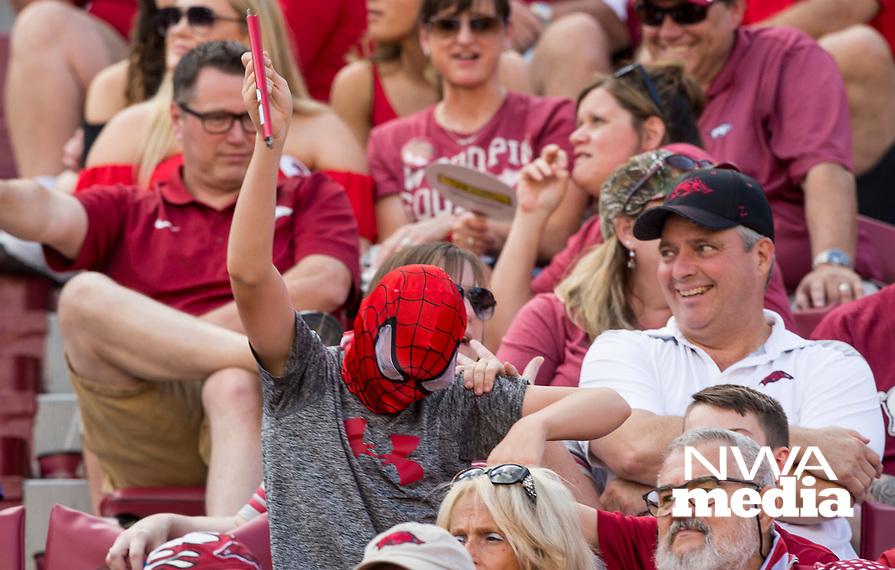 Hawgs Illustrated /BEN GOFF <br /> Arkansas vs North Texas Saturday, Sept. 15, 2018, at Razorback Stadium in Fayetteville.