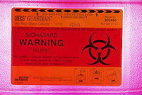 Biohazard container label
