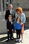 23/05/2015 – St. Peter's Communion – Patrick O'Connell with his parents Caroline and Aidan and his sister Georgia.