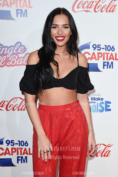 LONDON, UK. December 08, 2018: Lennon Stella at Capital&rsquo;s Jingle Bell Ball 2018 with Coca-Cola, O2 Arena, London.<br /> Picture: Steve Vas/Featureflash