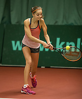 The Hague, The Netherlands, March 17, 2017,  De Rhijenhof, NOJK 14/18 years, Florentine Dekkers (NED)<br /> Photo: Tennisimages/Henk Koster