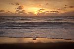 A golden sunrise in the Cape Cod National Seashore, Eastham, MA, USA