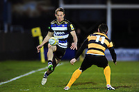 Liam Forsyth of Bath United puts boot to ball. Aviva A-League match, between Bath United and Wasps A on December 28, 2016 at the Recreation Ground in Bath, England. Photo by: Patrick Khachfe / Onside Images