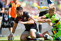 Sean Maitland of Saracens scores his first try of the match. Aviva Premiership match, between Saracens and Northampton Saints on September 2, 2017 at Twickenham Stadium in London, England. Photo by: Patrick Khachfe / JMP