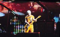 "©KATHY HUTCHINS/HUTCHINS.6/18/97 "" U2 POP MART TOUR"".ADAM CLAYTON"