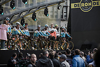 Team AG2R La Mondiale pre race team presentation<br /> <br /> 103rd Ronde van Vlaanderen 2019<br /> One day race from Antwerp to Oudenaarde (BEL/270km)<br /> <br /> ©kramon