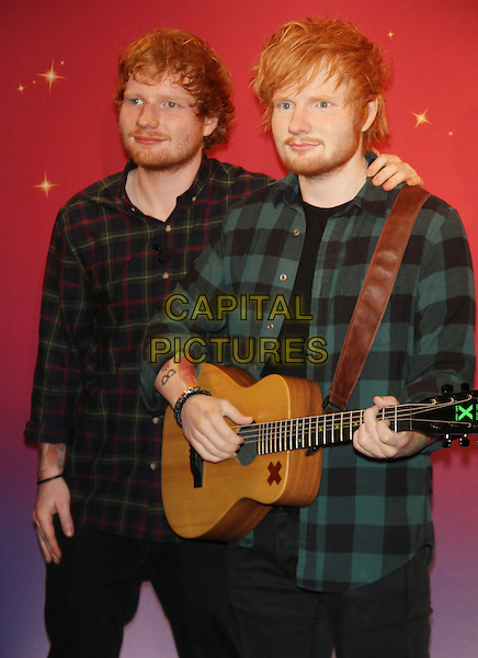 NEW YORK, NY - May 28: Ed Sheeran at the unveiling of his brand new wax figure at Madame Tussauds Times Square in New York City on May 28, 2015. <br /> CAP/MPI/RW<br /> &copy;RW/MPI/Capital Pictures