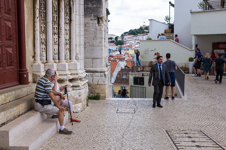 Near the Convento do Carmo and <br /> Elevador de Santa Justa, Lisbon