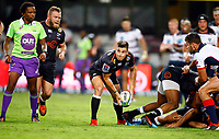 DURBAN, SOUTH AFRICA - MARCH 23: Louis Schreuder (captain) of the Cell C Sharks during the Super Rugby match between Cell C Sharks and Rebels at Jonsson Kings Park on March 23, 2019 in Durban, South Africa. Photo: Steve Haag / stevehaagsports.com