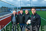 John O'Regan (secretary Kerry District League), Sean O'Keeffe (chairman Kerry District League) James Sugrue (assistant manager Kerry District League) and Billy Dennehy (Kerry U17's Head coach/manager), looking forward to the FAI U17 Cup final on Sunday at Mounthawk Park, Tralee.