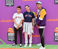 Daan Creyghton, Maemae Renfrow, Stony Blyden at Nickelodeon's Kids' Choice Sports 2017 at UCLA's Pauley Pavilion. Los Angeles, USA 13 July  2017<br /> Picture: Paul Smith/Featureflash/SilverHub 0208 004 5359 sales@silverhubmedia.com