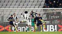 Calcio, Serie A: Torino, Juventus Stadium, 5 febbraio 2017.<br /> Juventus' Juan Cuadrado scores during the Italian Serie A football match between Juventus and Inter Milan at Turin's Juventus Stadium, on February 5, 2017.<br /> UPDATE IMAGES PRESS/Isabella Bonotto