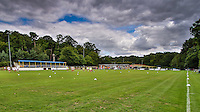 General view ahead of the FA Cup match between Ampthill Town FC and Risborough Rangers FC, who play their inaugural match in the competition at Woburn Street, Ampthill, England on 15 August 2015. Photo by David Horn.