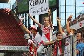 01.08.2015. Cologne, Germany. Pre Season Tournament. Colonia Cup. FC Cologne versus Stoke City.  Young Cologne fans at the final whistle beckoning their team over.