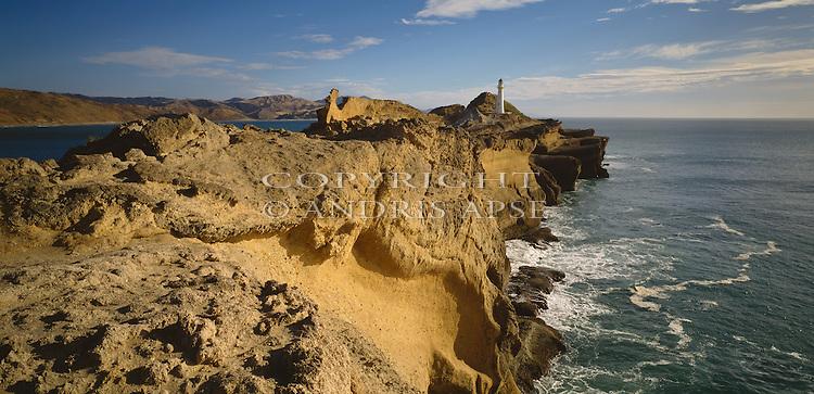 Castle Point lighthouse in the Wellington Region. New Zealand.