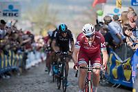Alexander Kristoff (NOR/Katusha-Alpecin) fighting his way up the Oude Kwaremont<br /> <br /> 101th Ronde Van Vlaanderen 2017 (1.UWT)<br /> 1day race: Antwerp › Oudenaarde - BEL (260km)