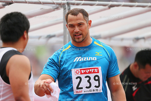 Koji Murofushi (JPN), <br /> JUNE 9, 2013 - Athletics : <br /> The 97th Japan Track &amp; Field National Championships <br /> Men's Hammer Throw Final <br /> at Ajinomoto Stadium, Tokyo, Japan. <br /> (Photo by YUTAKA/AFLO SPORT)