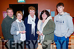 Bernard Lynch, Ita Behan, Nora Maher, Jactina O'Mahony and Dean Rusk, pictured at St. John's Parish Bazaar, held at the KDYS, Tralee on Saturday night last.