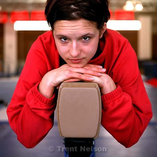 Salt Lake City - Utah gymnast Theresa Kulikowski; 01.02.2003,<br />