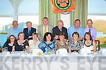 Top Table at the K.V.V.C.C.C. Ring of Kerry Run in th eWaterville Lake Hotel were front l-r, Shannon Leahy, Helen Slattery, Anne Mason, Kay Foley, Noreen O'Riordan, Eileen O'Connor & Trish Tangney. Back l-r Tom Slattery, Dick Mason, Fenton Foley- Chairman, P.J. O'Riordan-President, Mike O'Connor-Secretary & Paudie Moore.