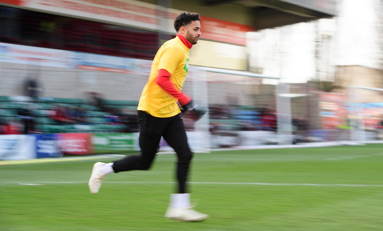 Lincoln City's Bruno Andrade during the pre-match warm-up<br /> <br /> Photographer Chris Vaughan/CameraSport<br /> <br /> The EFL Sky Bet League Two - Lincoln City v Northampton Town - Saturday 9th February 2019 - Sincil Bank - Lincoln<br /> <br /> World Copyright &copy; 2019 CameraSport. All rights reserved. 43 Linden Ave. Countesthorpe. Leicester. England. LE8 5PG - Tel: +44 (0) 116 277 4147 - admin@camerasport.com - www.camerasport.com