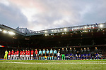 Manchester United and Anderlecht players line up during the UEFA Europa League Quarter Final 2nd Leg match at Old Trafford, Manchester. Picture date: April 20th, 2017. Pic credit should read: Matt McNulty/Sportimage