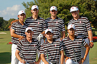 WINDEMERE, FL - OCTOBER 24:  David Chung, Jordan Cox, Matt Tight, Conrad Ray, Steve Ziegler, Andrew Yun and Sihwan Kim of the Stanford Cardinal during the Isleworth Collegiate on October 24, 2009 in Windemere, Florida.