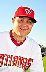 28 February 2010: Washington Nationals starting pitcher Matt Chico poses for his Spring Training photo at Space Coast Stadium in Viera, Florida. Mandatory Credit: Ed Wolfstein Photo