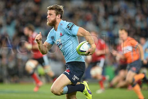 23.05.2015.  Sydney, Australia. Super Rugby. NSW Waratahs versus the Crusaders. Waratahs Rob Horne makes a break and scores a try. The Waratahs won 32-22.