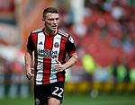 Caolan Lavery of Sheffield Utd during the Championship match at Bramall Lane, Sheffield. Picture date 26th August 2017. Picture credit should read: Simon Bellis/Sportimage