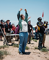 Participants at the Spaceport America Cup near the town of Truth or Consequences, New Mexico, June 20-24, 2017. The International Intercollegiate Rocket Engineering Competition hosted over 110 teams from colleges and universities in eleven countries. Students launched solid, liquid, and hybrid rockets to target altitudes of 10,000 and 30,000 feet. The 2017 Spaceport America Cup winner was the University of Michigan, Ann Arbor, Team 79.<br /> <br /> Photo by Matt Nager