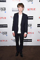 LONDON, ENGLAND. October 6, 2016: Alex Lawther at the London Film Festival premiere for &quot;Black Mirror&quot; at the Bluebird Cafe, Chelsea, London.<br /> Picture: Steve Vas/Featureflash/SilverHub 0208 004 5359/ 07711 972644 Editors@silverhubmedia.com