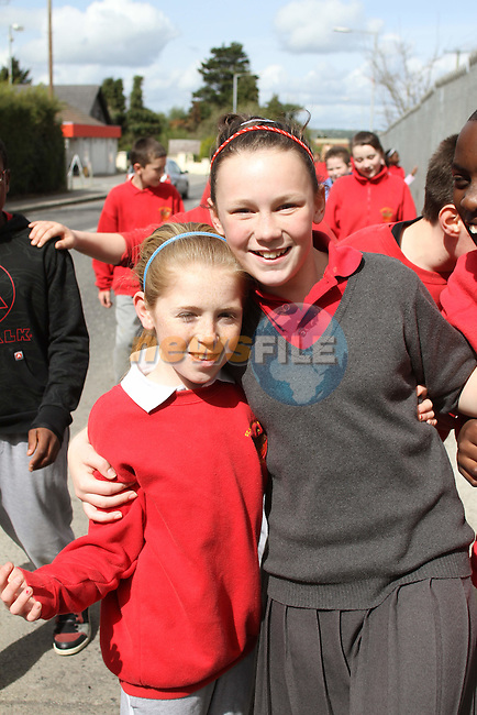 Mollty Hoey and Chloe Grimes at the Sponsored Walk for Chernobyl Charity Fund by St.Pauls Students. ..(Photo credit should read Jenny Matthews www.newsfile.ie)....This Picture has been sent you under the conditions enclosed by:.Newsfile Ltd..The Studio,.Millmount Abbey,.Drogheda,.Co Meath..Ireland..Tel: +353(0)41-9871240.Fax: +353(0)41-9871260.GSM: +353(0)86-2500958.email: pictures@newsfile.ie.www.newsfile.ie.