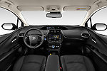 Stock photo of straight dashboard view of 2019 Toyota Priush Lounge 4 Door Hatchback Dashboard