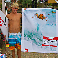 """SNAPPER ROCKS, Queensland/Australia (Saturday, March 5, 2011) Mikey Wright(AUS), the younger brother of Owen Wright (AUS) and Tyler Wright) at the running of the Quiksilver Pro.  -Competition in The Roxy Pro Gold Coast, the opening event of the 2011 ASP Women's World Title season, will recommenced today at 12:30pm...With building two-to-three foot (1 metre) waves on offer at the primary venue of Snapper Rocks, event organisers  completed the six heats of Round 2 and all of Round 3 today. World Champion Stephanie Gilmore (AUS) won both her Heats today..""""Conditions have cleaned up and we're seeing the first signs of swell this afternoon so we've called Round 2 of the women's competition on at 12:30pm,"""" Rich Porta, ASP International Head Judge, said. """"We're expecting conditions to improve throughout the afternoon with the possibility of running Round 3 as well.""""..Up first this morning will be Rebecca Woods (AUS), 26, battling rookie Courtney Conlogue (AUS), 18, in the opening women's heat of Round 2...Photo: joliphotos.com"""
