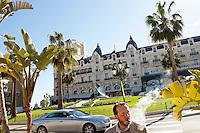 Casino Square, Monte Carlo, Monaco, 21 March 2013. The Hotel de Paris is in the background.